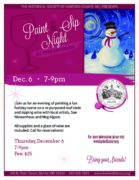 Holiday Paint and Sip Night at the Museum